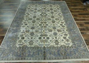 New Hand knotted Transitional Bamboo silk Wool Oushak Oriental 9'x12' area rug