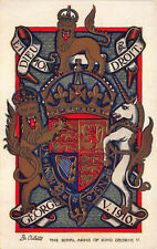 "Raphael Tuck ""Royal Arms of King George V"" Postcard"