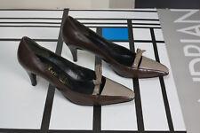 Damen Pumps Schuhe braun beige 38 60er TRUE VINTAGE 60s  High Heels 5 NOS OvP