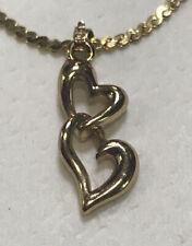 Ankle Bracelet Beautiful Vintage Napier Double Heart