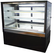 220V Countertop Refrigerated Cake Showcase Cake Cooling Display Cabinet New