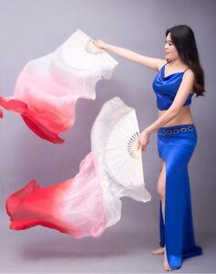 1Pcs Right Hand 1.2M/1.5M/1.8M Women Belly Dance Bamboo Fan Dance Fan Veil Gift