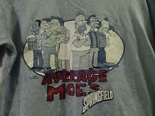 The Simpsons ~Average Moe's~ Springfield [Blue] Adult Med. ~T-SHIRT~ Krusty +