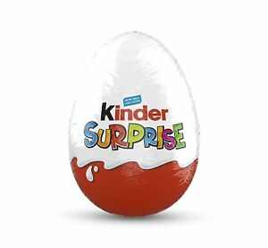 Kinder Surprise Easter Eggs Box Milk Chocolate Egg with Kids Toy Pack of 48 X20g