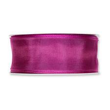 Berry Colour Fabric Ribbon 40mm (1.5 inch) Wide Full 25m Roll Taffeta Satin