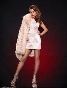 Lea Michele authentic screen worn Scream Queens publicity shoot skirt & top COA