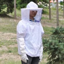 Protective Bee Keeper Jacket Veil Suit & Beekeeping Sleeve Gloves 2Pcs Set