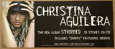 Christina Aguilera Rare 2002 Promo Poster w/Release Date for Stripped Cd 28x12
