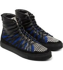 Damir Doma Black Blue Falco Sneakers Size 44 New Leather Suede Shoes Boots