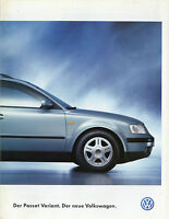 Prospekt VW Volkswagen Passat Variant 3/97 Autoprospekt 1997 Broschüre brochure