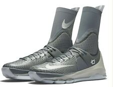 Nike $200 Kevin Durant KD 8 ELITE Basketball Gray Shoes (834185 001) - Size 9