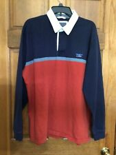 Vintage LL Bean Rugby Shirt Mens Size XL Color Block Classic 90s Adult