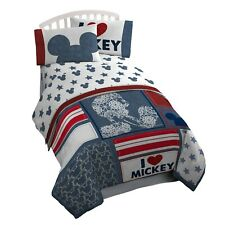 Disney Mickey Mouse: Red, White & Blue Full Comforter & Sheets (7 Piece Bedding)