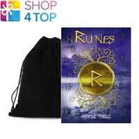 RUNES ORACLE CARDS DECK NORSE GODS ESOTERIC TELLING LO SCARABEO WITH VELVET BAG