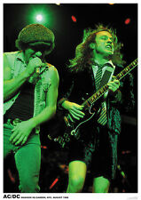 ACDC Angus Young Brian Johnson Poster A1 Size 84.1cm x 59.4cm- 33 inch x 24 inch