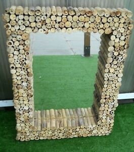 Massive Mirror NEW Style Frame Driftwood Wall Hanging Mirror XL 80 cm x 60 cm