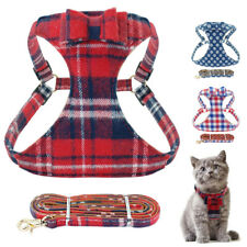 Escape Proof Cat Walking Harness and Leads Grid Adjustable Mesh Pet Dog Vest S-L
