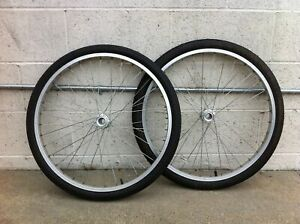 """24"""" Adult Tricycle Rear HOLLOW WheelSet Left/Right 5/8"""" Axle Tires Tubes"""