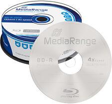 200 MediaRange BD-R 25Gb 4x Blu-ray Rohlinge Spindel