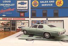 Papercraft 1970 Chevrolet Chevelle 4 door sedan Paper Model Car EZU-make