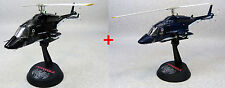 SGM-08-BL+SGM-08-BK: Aoshima Airwolf 1/48 Scale Diecast Model x 2 (Blue & Black)