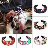 Ladies Wide Side Headband Twist Hairband Bow Knot Cross Tie Headwrap Hair Band
