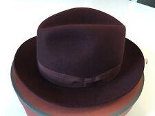 "700$ Loro Piana Men's Maroon Burt Cashfelt Hat Size 58 cm, 22 7/8"" Made in Italy"