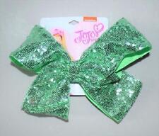 JoJo Siwa Seafoam Green Sequin Large Signature Hair Bow NWT Dance, Pageant