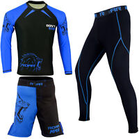 ROAR MMA Boxing Fight Short UFC Cage Fight Rash Guard Jiu Jitsu Compression Spat