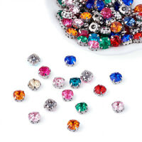 200 x Mixed Color Acrylic Rhinestone Montee Five-Hole Beads with Brass Findings