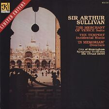 Sir Vivian Dunn, Sir Arthur Sullivan, Tempest/Venice. 180 Gram LP.  New & Sealed