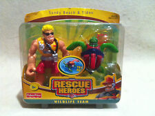 Rescue Heroes Wildlife Team Sandy Beach & Tides Ocean Team! FACTORY SEALED!