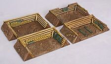 1/100 15mm scale WW2 large gun pits X4. For FOW by Daemonscape.com