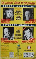 A Day In The Garden Woodstock Poster:Stevie Nicks,Don Henley,Pete Townshend,Joni