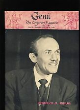 FREDERICK M SHIELDS GENII MAGICIANS MAGAZINE FEB1959 - contents in post