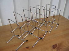 "10 CHROME PLATE DISPLAY STANDS UP TO 10"" (25CM) ITEM (6""/14cm tall approx) METAL"