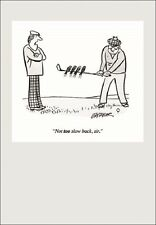 Punch Golf Cartoon Humour Greeting Card Funny Range Cards Blank Inside