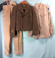 U.S. POST WW2 ARMY 1949 ENLISTED MEN'S UNIFORM JACKET, PANTS & SHIRT #715