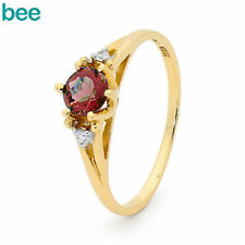 Diamond Yellow Gold Ruby Fine Rings