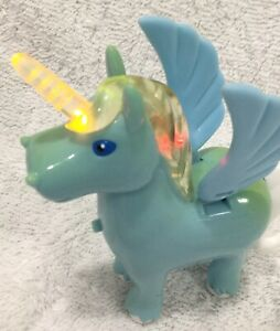 Neopets 2002 Voice Activated BLUE Uni Alicorn Pegasus Toy Thinkway Toys Light Up
