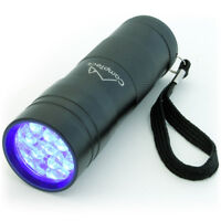 12 LED Linterna UV 395nm Ultravioleta Antorcha Luz Negra Detector Orina Manchas