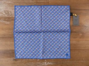 CANALI blue silk pocket square authentic - NWT
