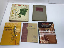 Vintage Singer Sewing Books - 5 Book Lot Of Singer Books
