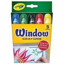 Crayola Washable Window Crayons, Assorted 5 ea