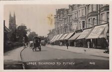 London Real Photo Postcard. Upper Richmond Rd, Putney. Wandsworth. Rare! c 1913