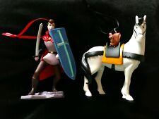 Disney Sleeping Beauty Prince Phillip , Samson Horse Christmas Ornament set