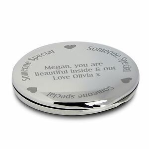 Personalised Engraved Someone Special Compact Mirror - Wedding Favour for Her,