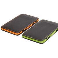 AM_ Fashion Men's Faux Leather Wallet Slim Magic Money Clip Card Holder T