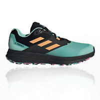 adidas Mens Terrex Two Flow Trail Running Shoes Trainers Sneakers Black Green