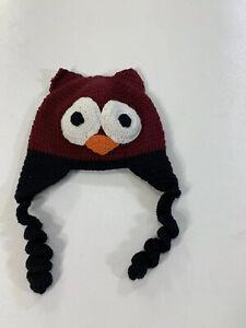 Seattle Hats Baby/Toddler XS Knit Owl Hat EUC